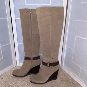 Nine West Suede Leather Wedge Boot